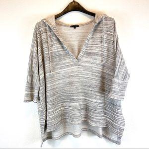 Beyond Yoga Hooded Gray Poncho Sweatshirt Small